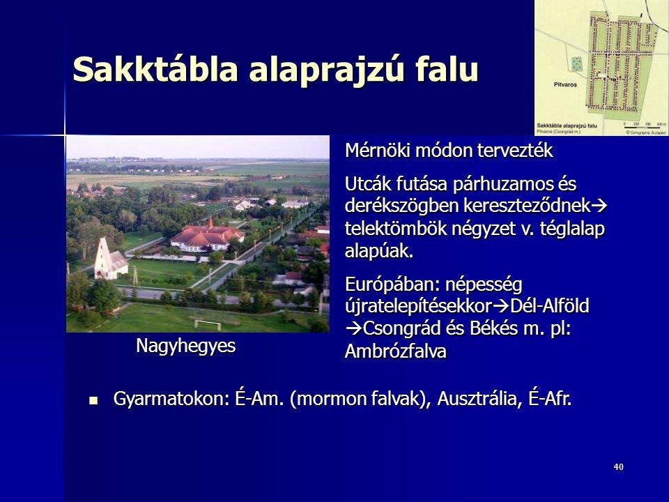 Sakktábla alaprajzú falu