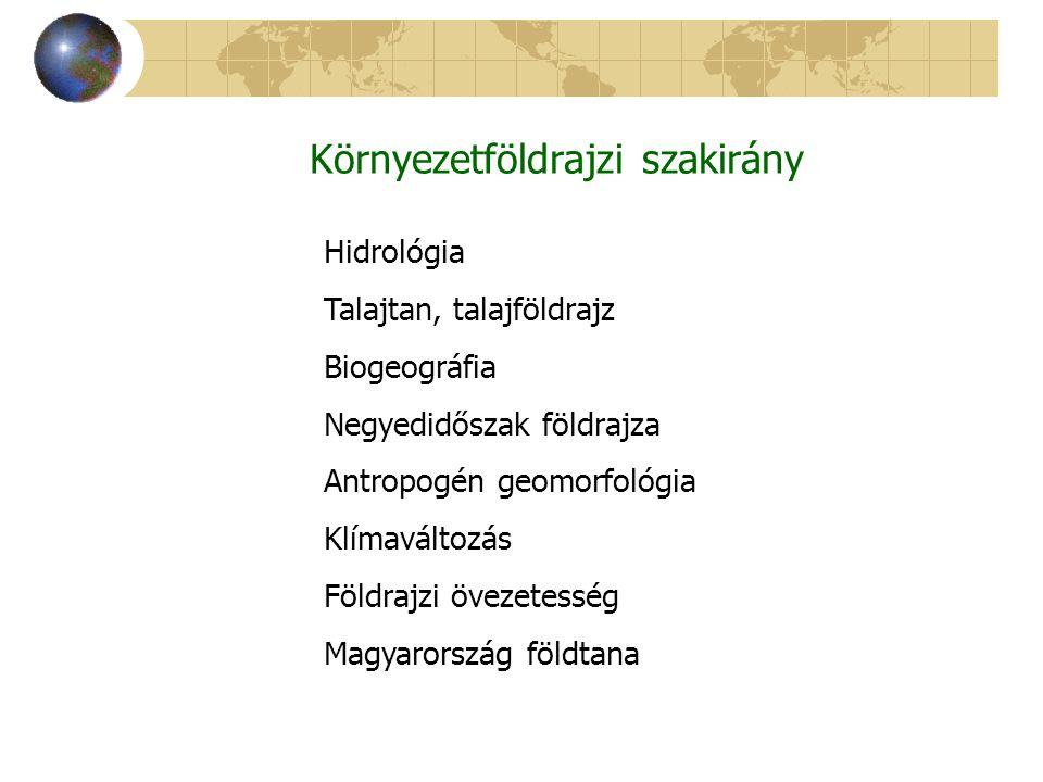 Környezetföldrajzi szakirány