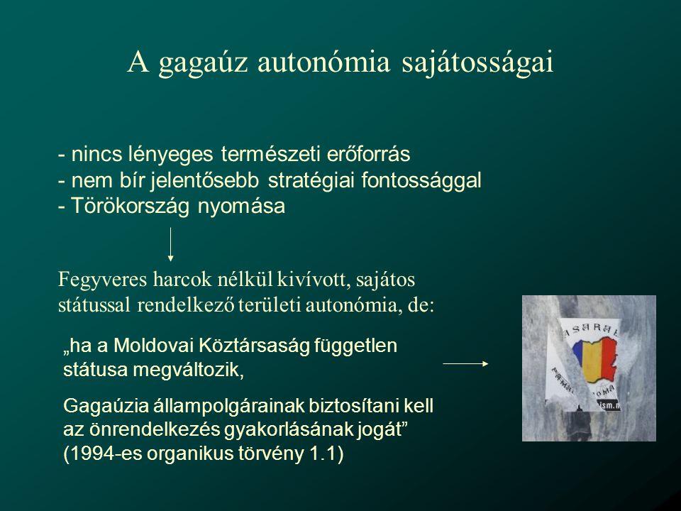 A gagaúz autonómia sajátosságai