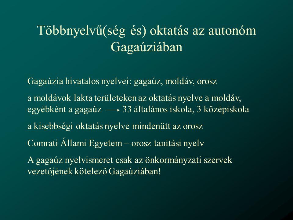 Többnyelvű(ség és) oktatás az autonóm Gagaúziában
