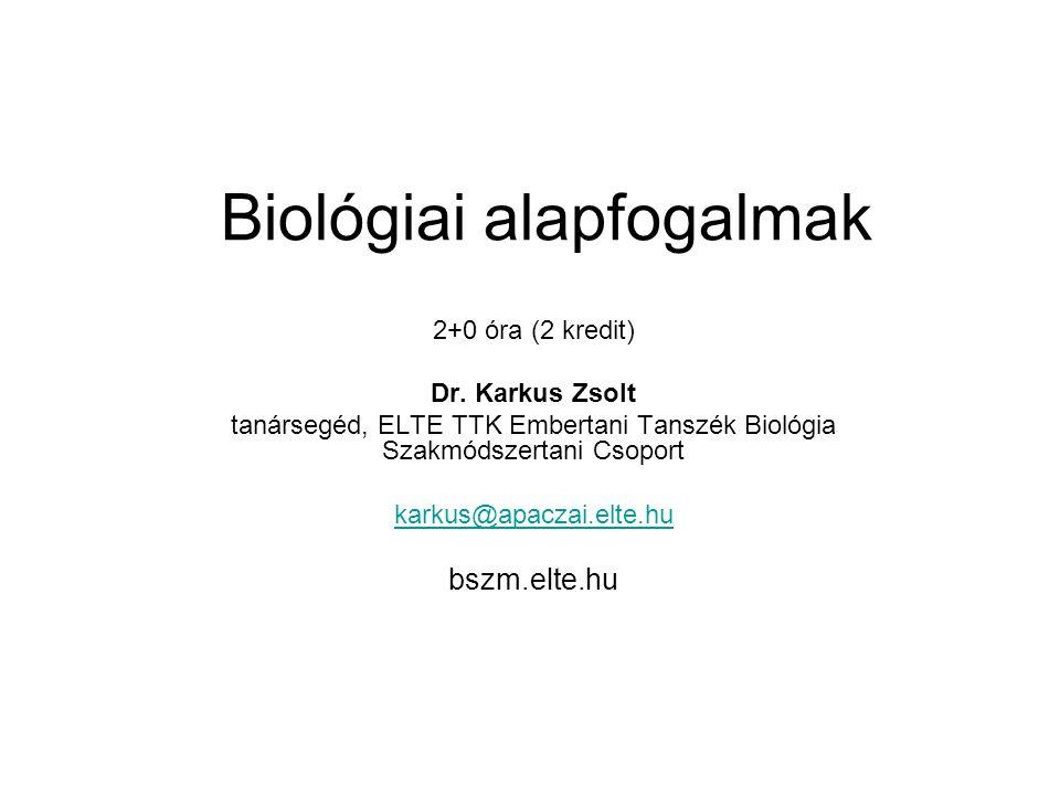 Biológiai alapfogalmak