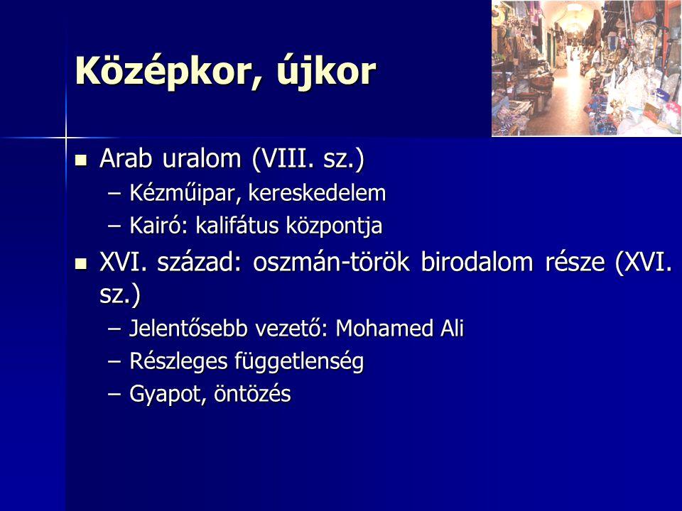 Középkor, újkor Arab uralom (VIII. sz.)