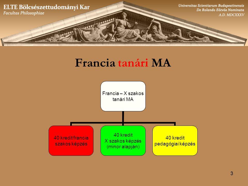 Francia tanári MA 3