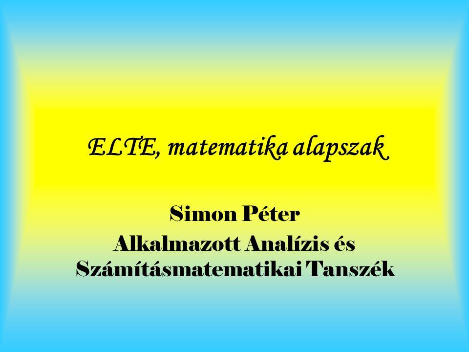 ELTE, matematika alapszak