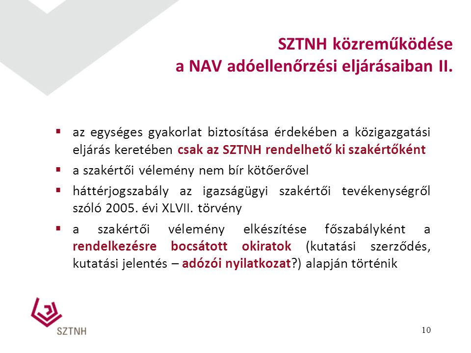 a NAV adóellenőrzési eljárásaiban II.