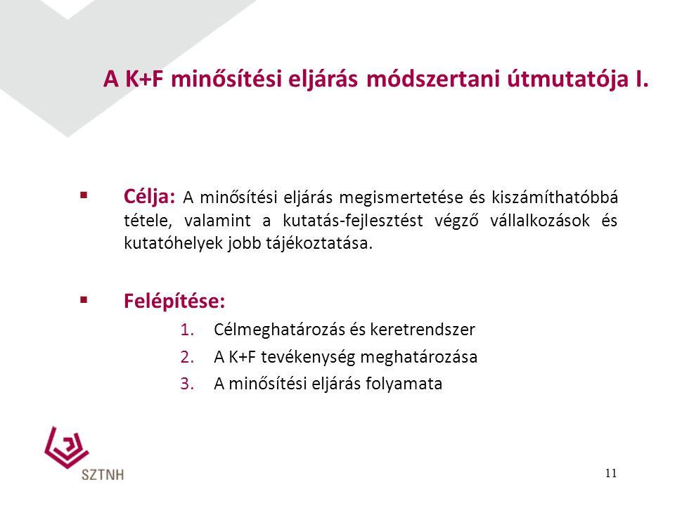 A K+F minősítési eljárás módszertani útmutatója I.