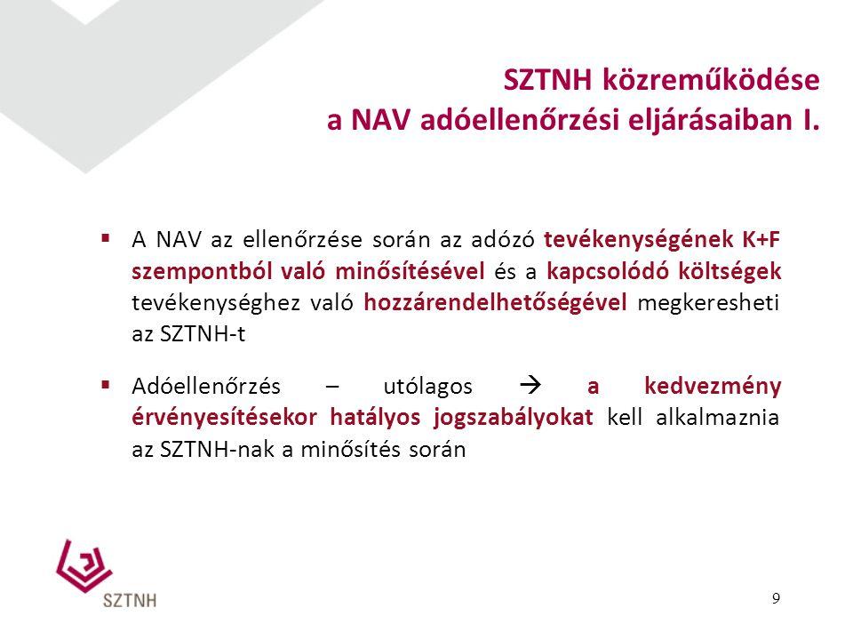 a NAV adóellenőrzési eljárásaiban I.