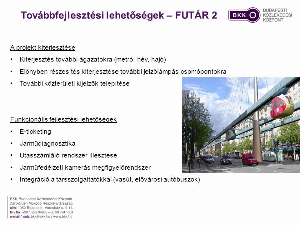 Továbbfejlesztési lehetőségek – FUTÁR 2