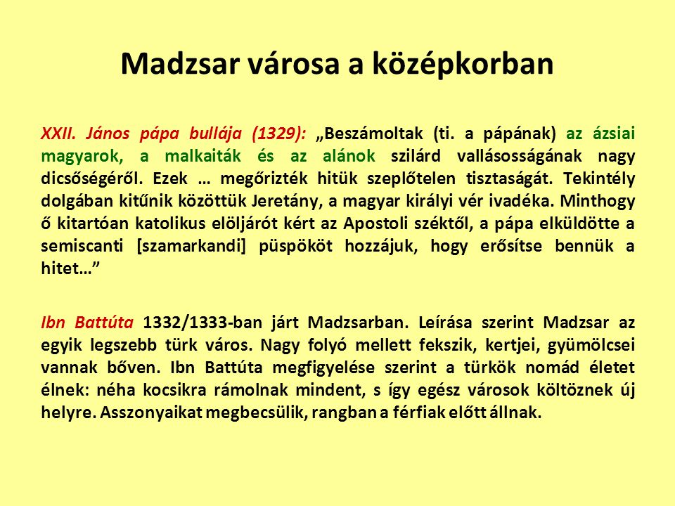 Madzsar városa a középkorban