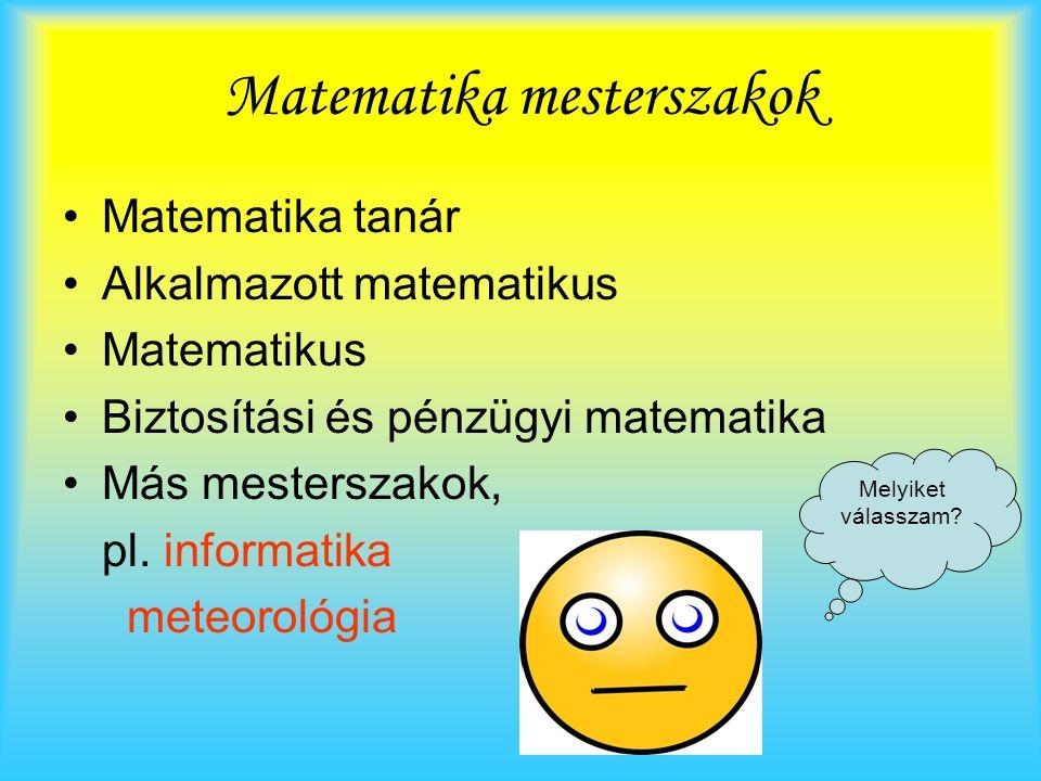 Matematika mesterszakok