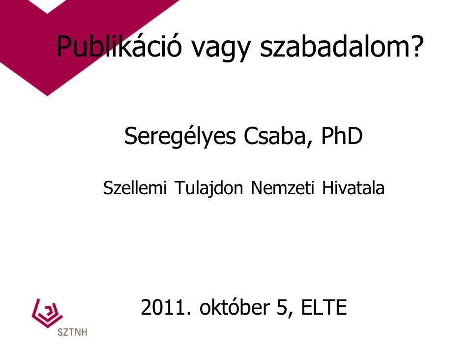Publikáció vagy szabadalom