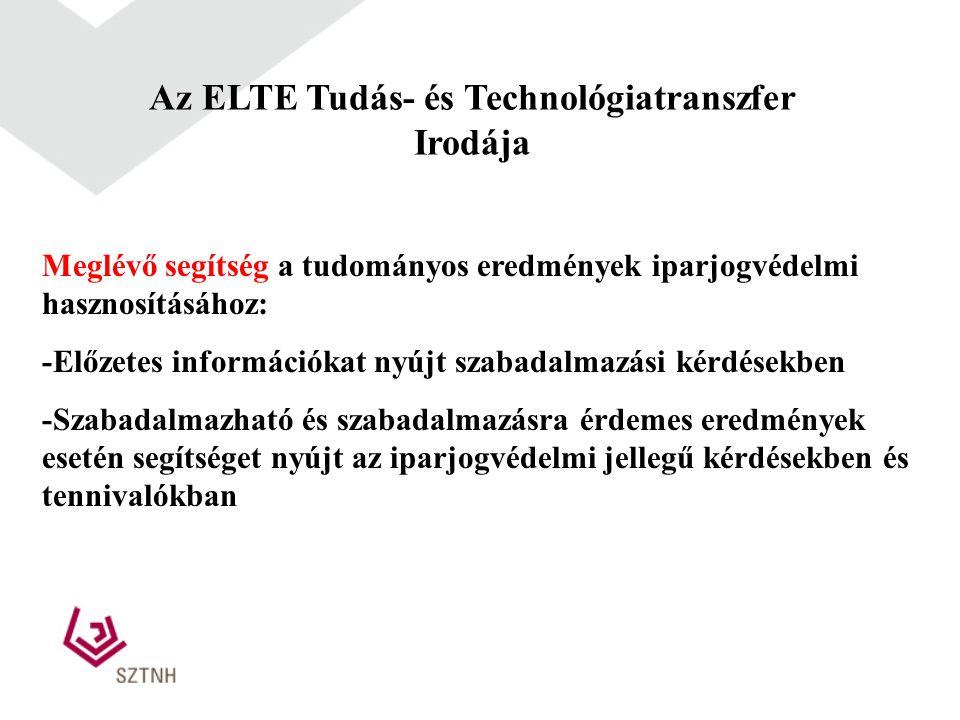 Az ELTE Tudás- és Technológiatranszfer Irodája