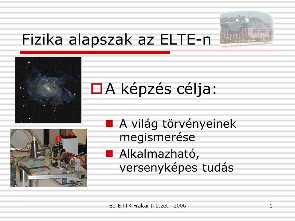 Fizika alapszak az ELTE-n