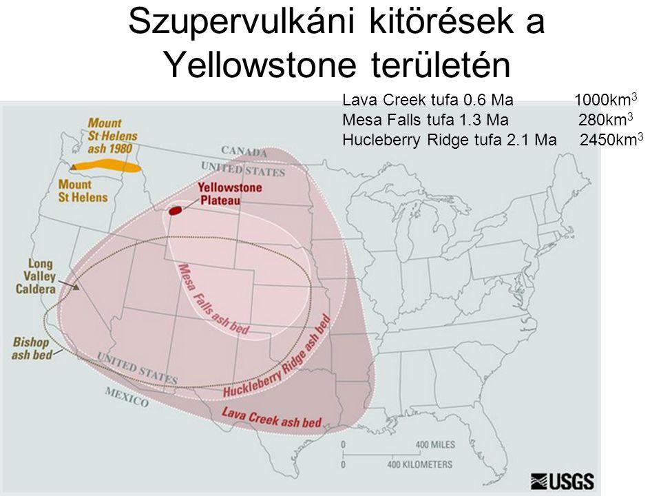 Szupervulkáni kitörések a Yellowstone területén