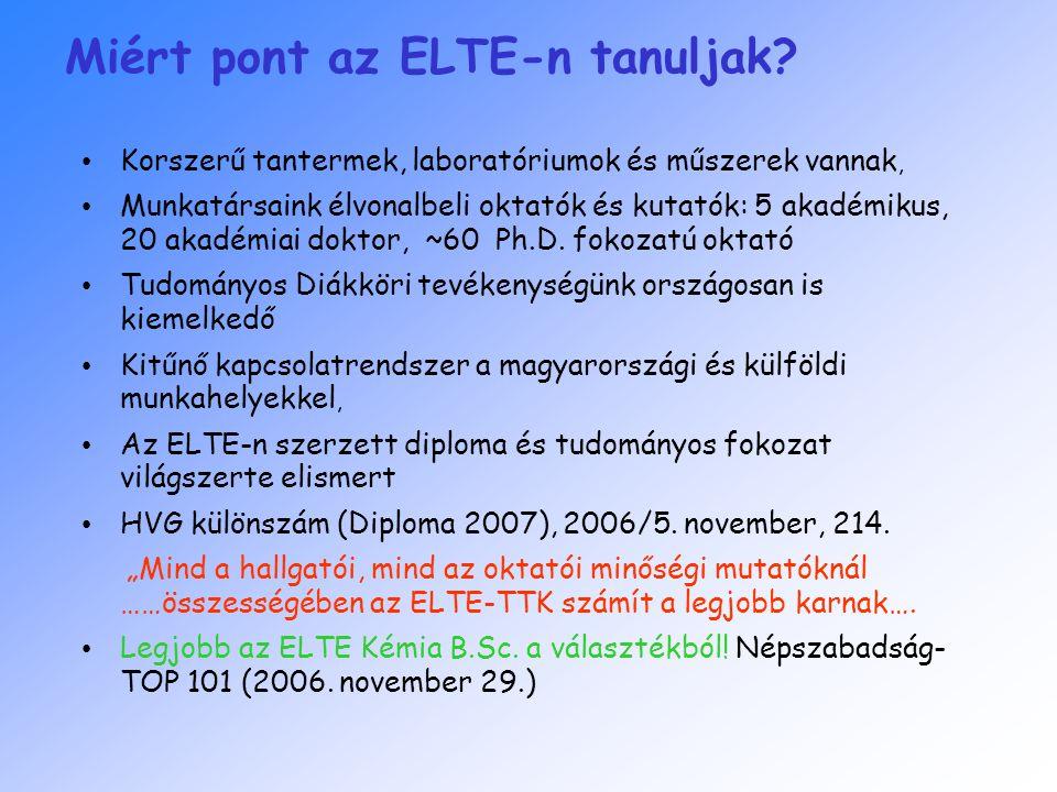 Miért pont az ELTE-n tanuljak