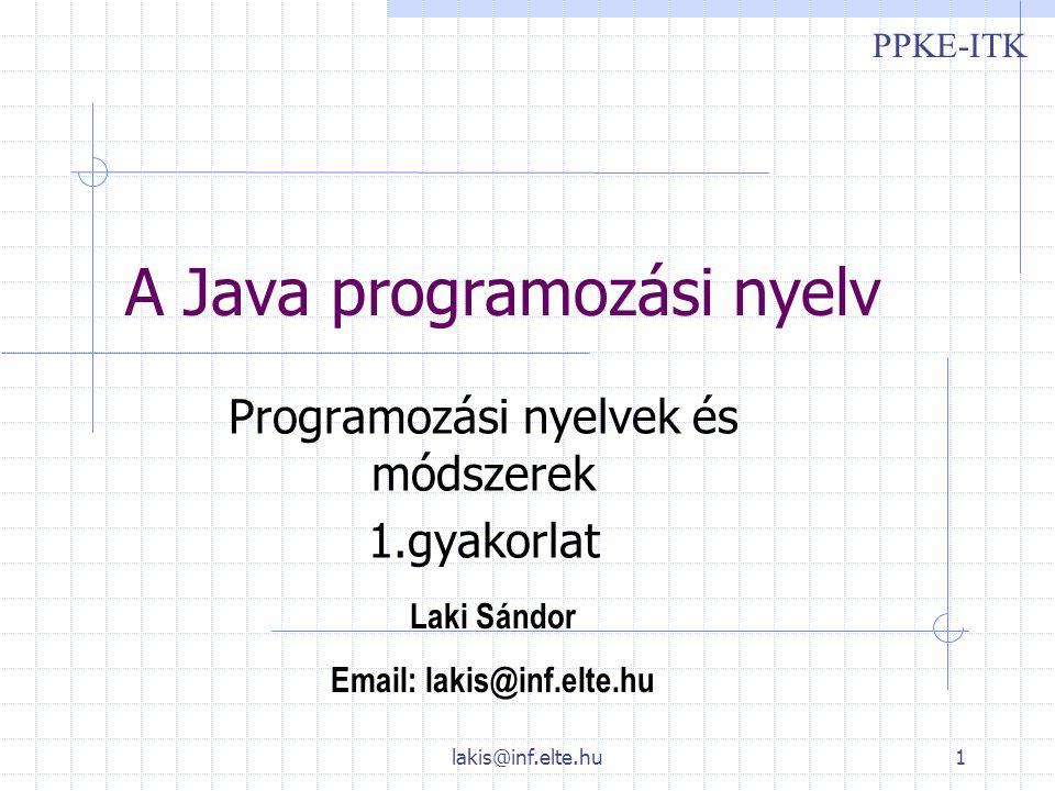 A Java programozási nyelv