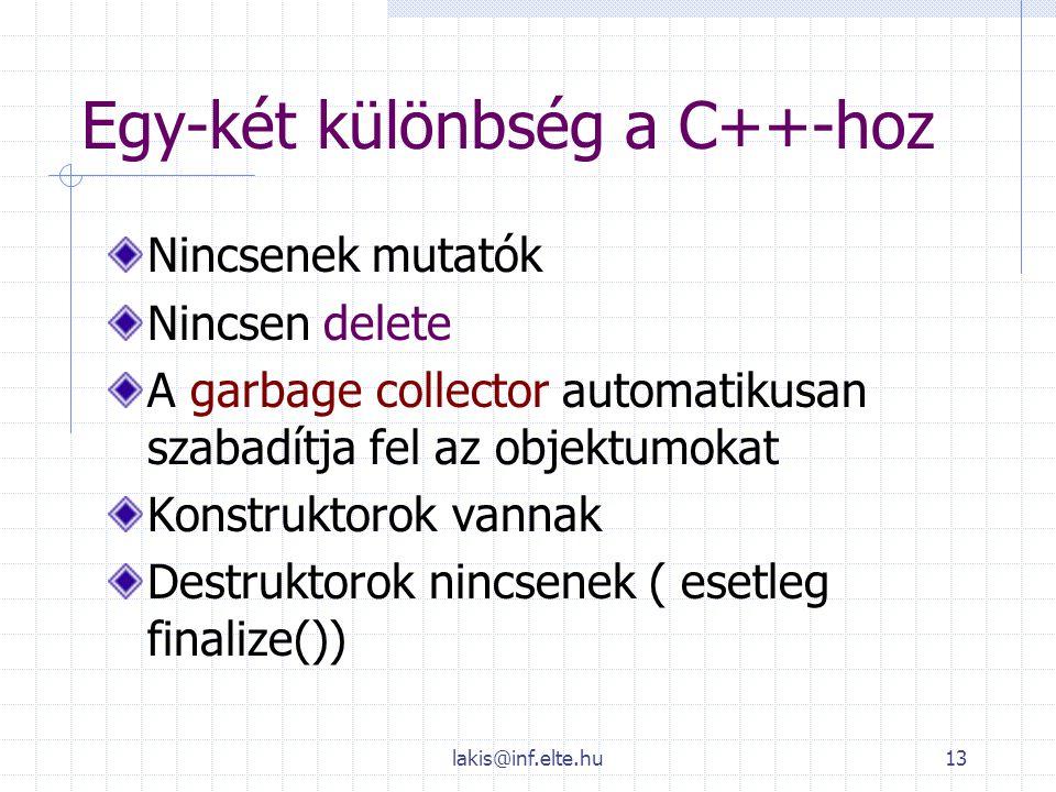 Egy-két különbség a C++-hoz
