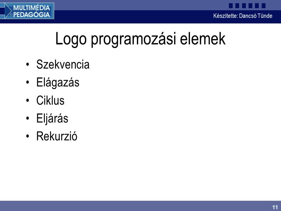 Logo programozási elemek