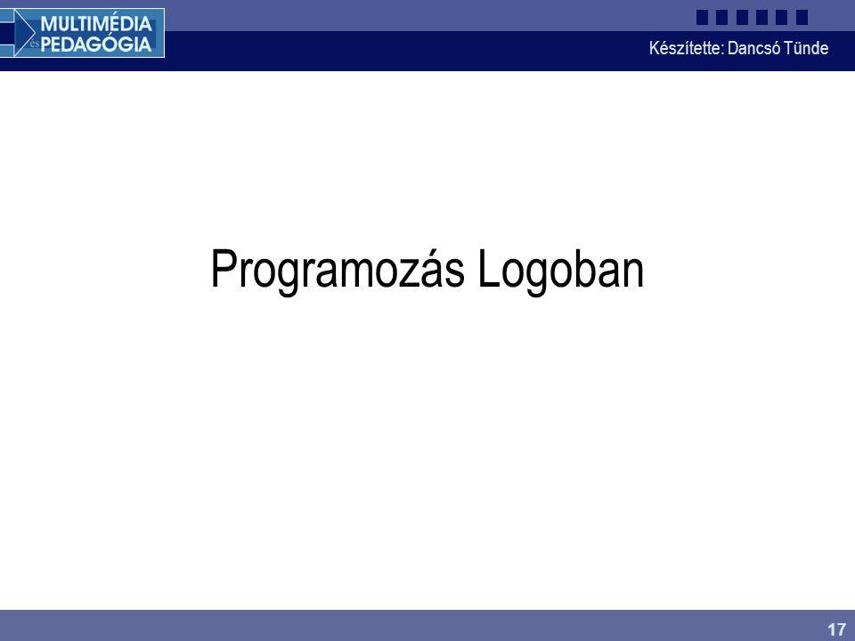 Programozás Logoban Súgó folytatása: