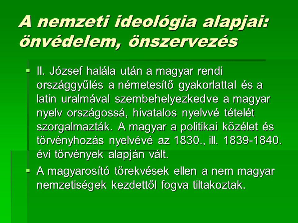 A nemzeti ideológia alapjai: önvédelem, önszervezés
