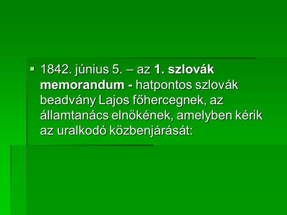 1842. június 5. – az 1.