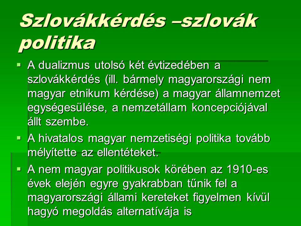 Szlovákkérdés –szlovák politika