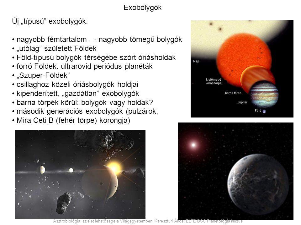 """Új """"típusú exobolygók: nagyobb fémtartalom  nagyobb tömegű bolygók"""