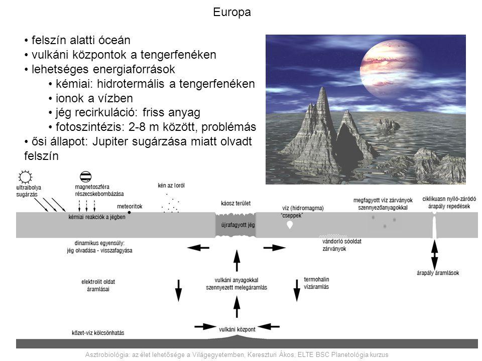 vulkáni központok a tengerfenéken lehetséges energiaforrások
