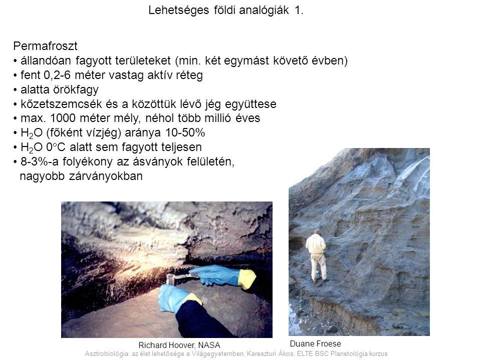 Lehetséges földi analógiák 1.