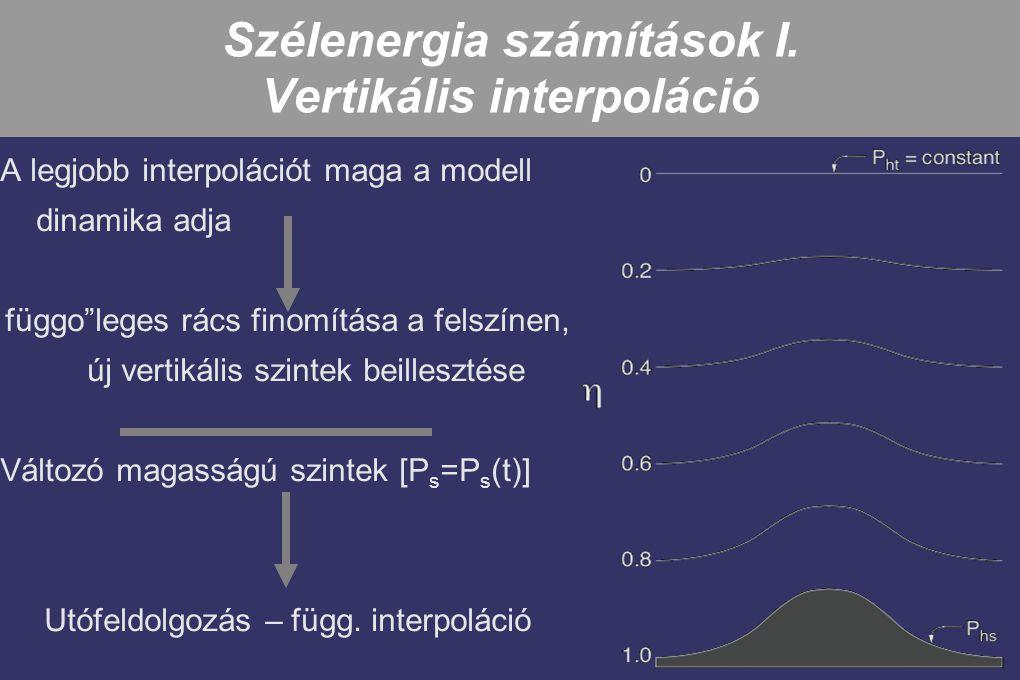 Szélenergia számítások I. Vertikális interpoláció