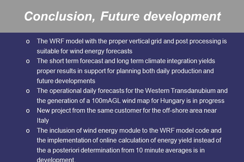 Conclusion, Future development