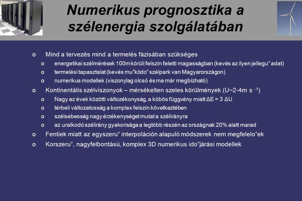Numerikus prognosztika a szélenergia szolgálatában
