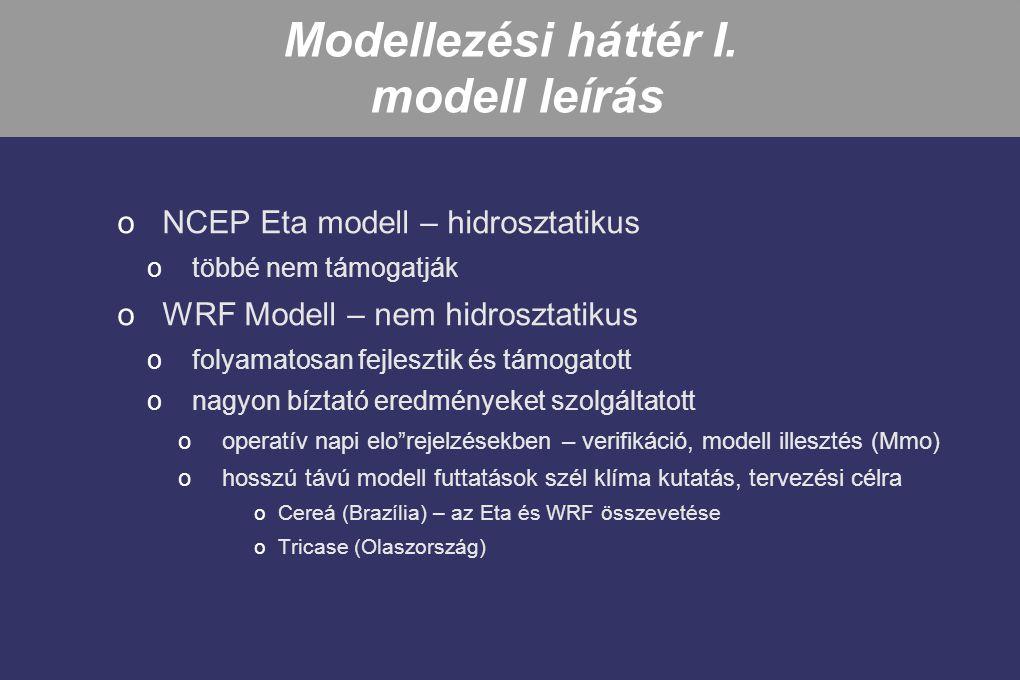 Modellezési háttér I. modell leírás