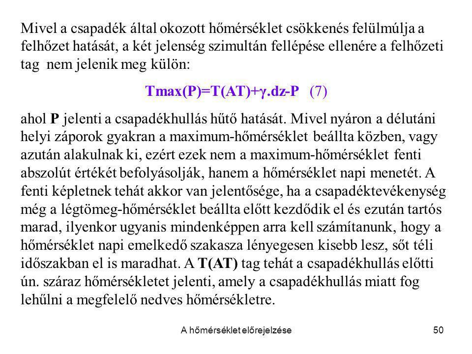 Tmax(P)=T(AT)+γ.dz-P (7)