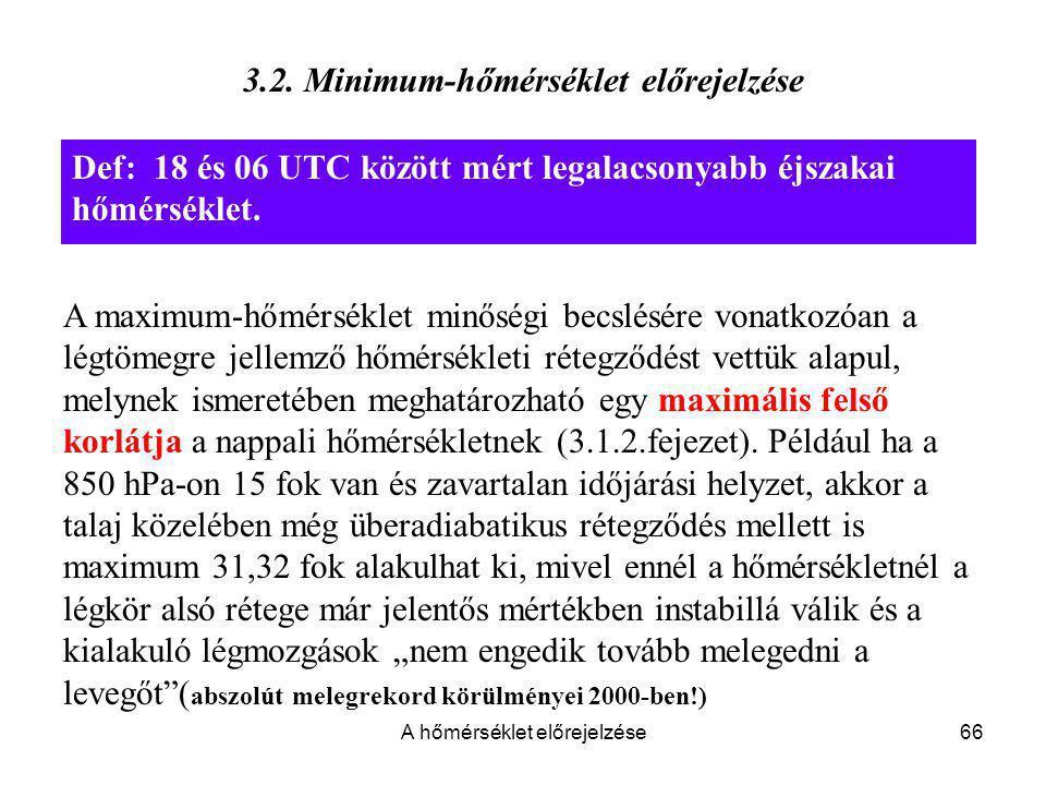 3.2. Minimum-hőmérséklet előrejelzése