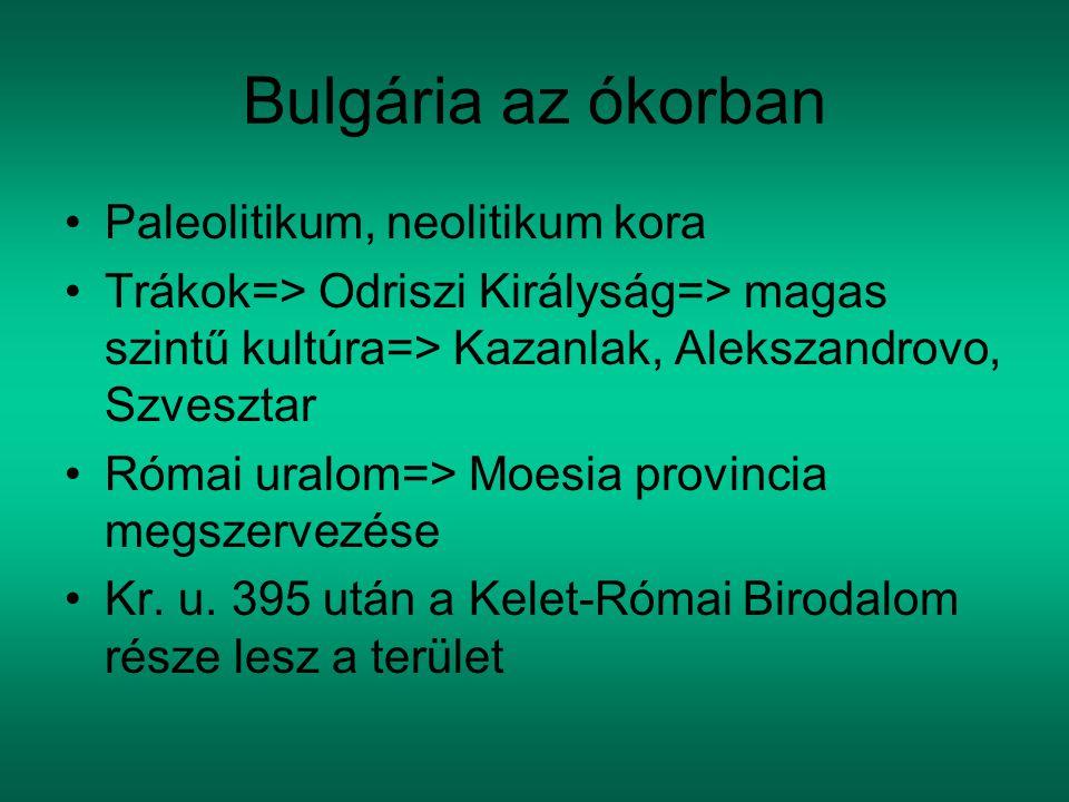 Bulgária az ókorban Paleolitikum, neolitikum kora