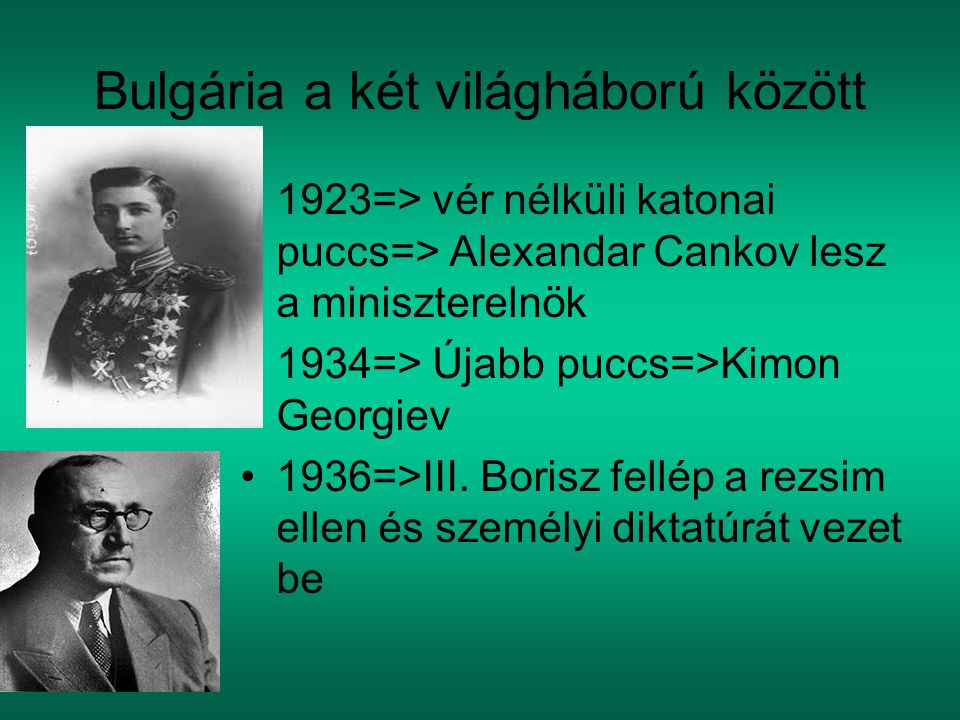 Bulgária a két világháború között