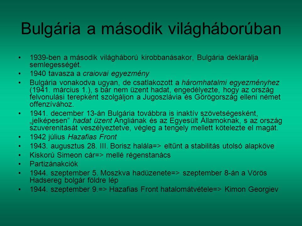 Bulgária a második világháborúban