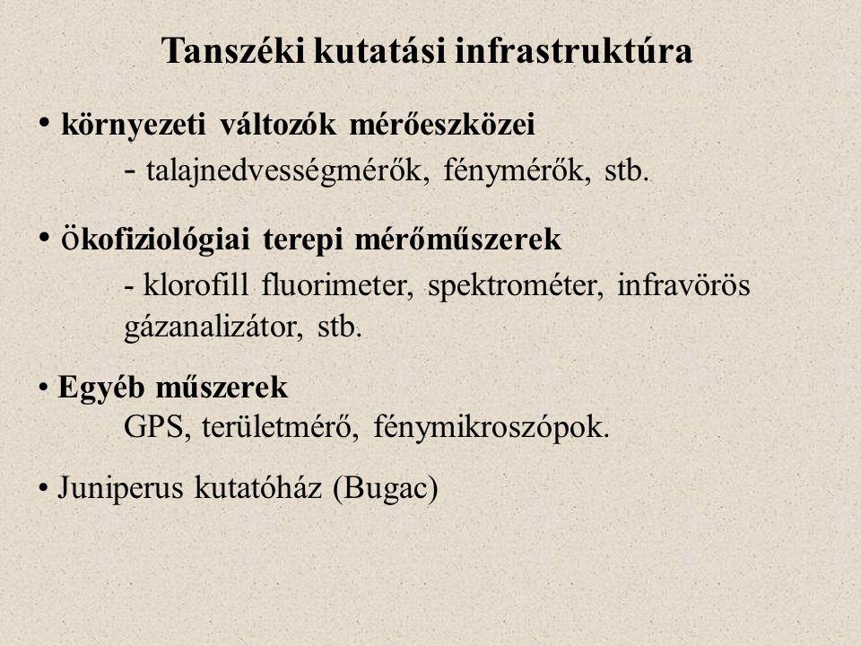 Tanszéki kutatási infrastruktúra