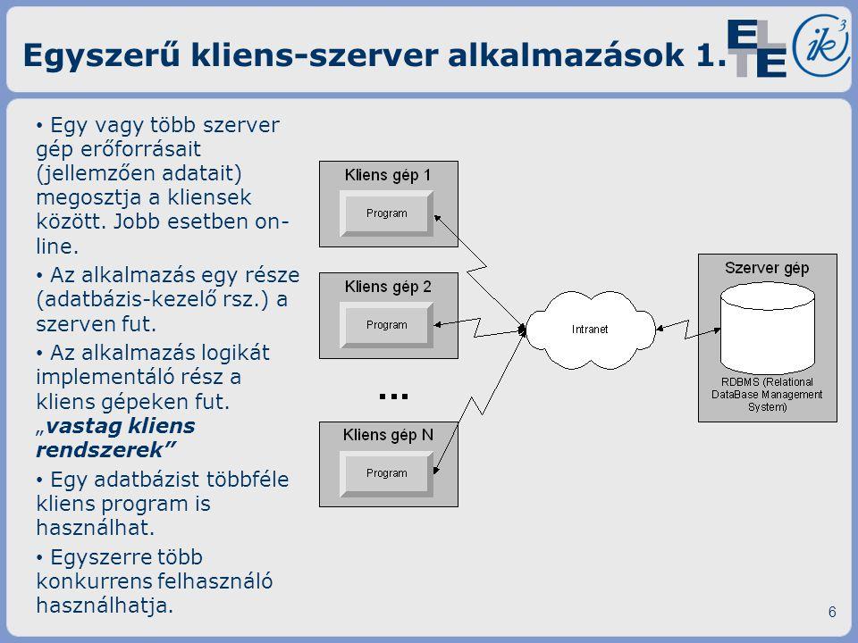 Egyszerű kliens-szerver alkalmazások 1.