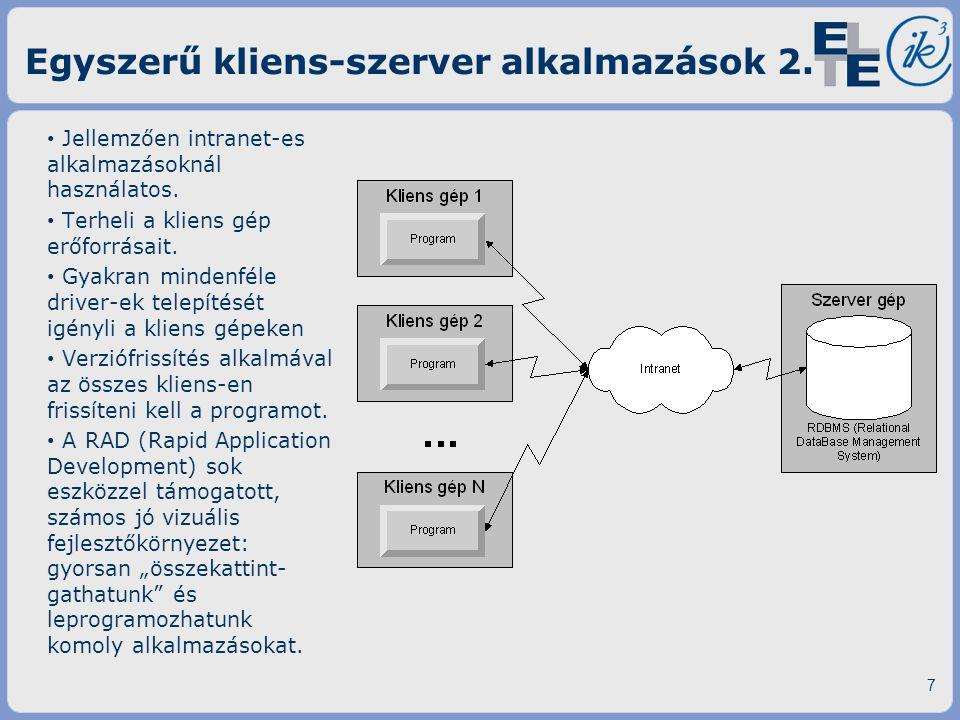 Egyszerű kliens-szerver alkalmazások 2.