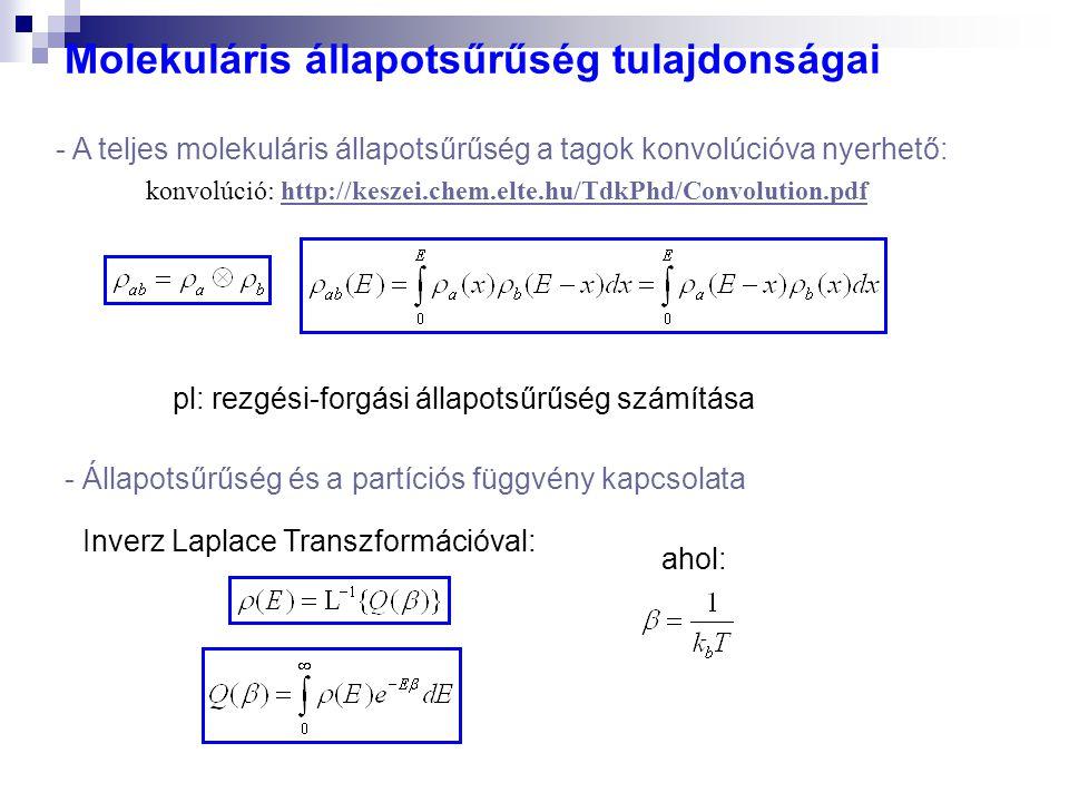 pl: rezgési-forgási állapotsűrűség számítása