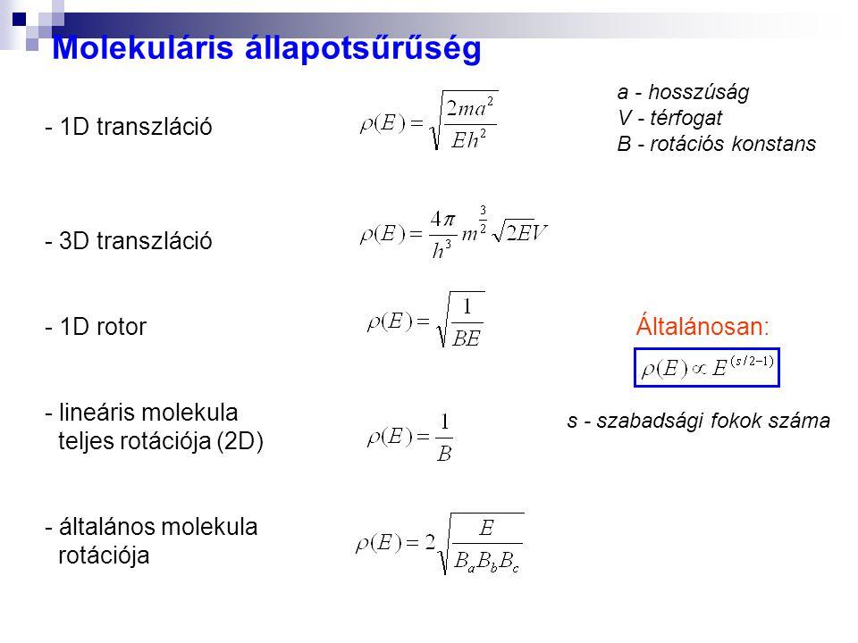 Molekuláris állapotsűrűség