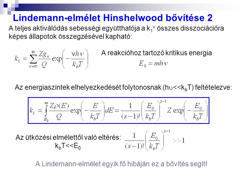 Lindemann-elmélet Hinshelwood bővítése 2