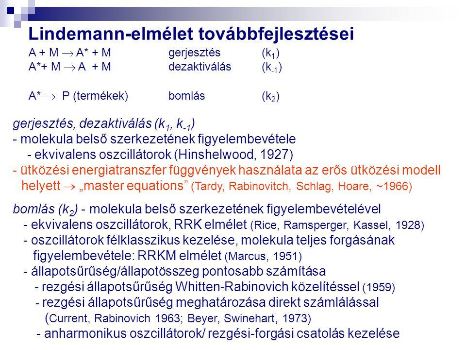 Lindemann-elmélet továbbfejlesztései