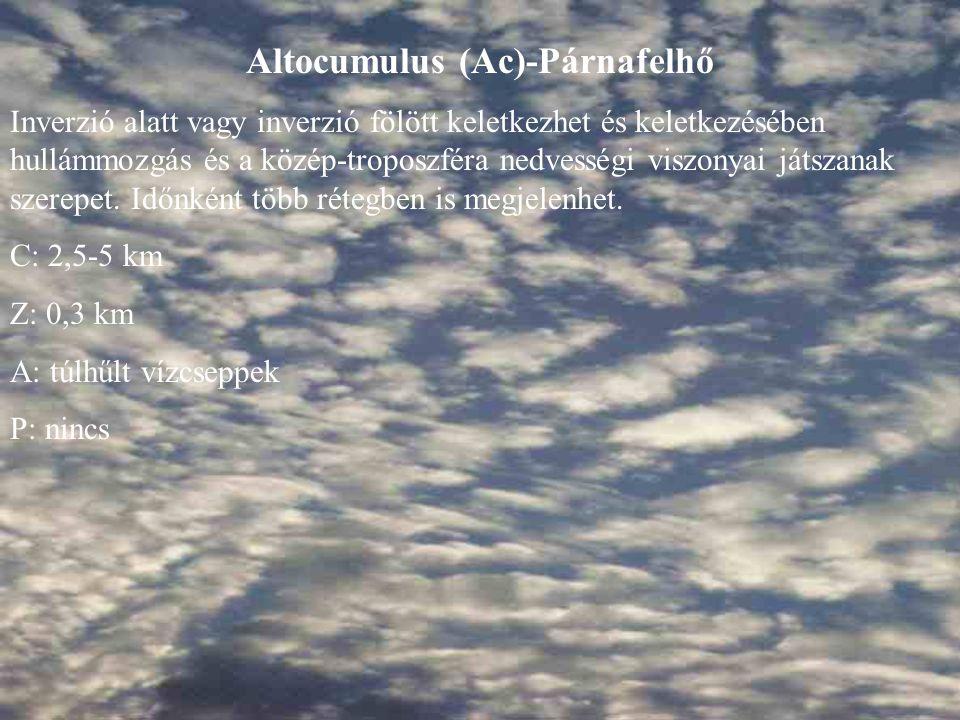 Altocumulus (Ac)-Párnafelhő