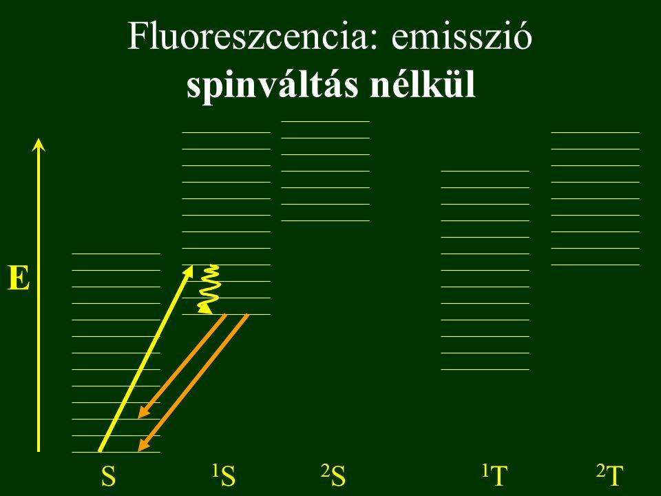Fluoreszcencia: emisszió spinváltás nélkül