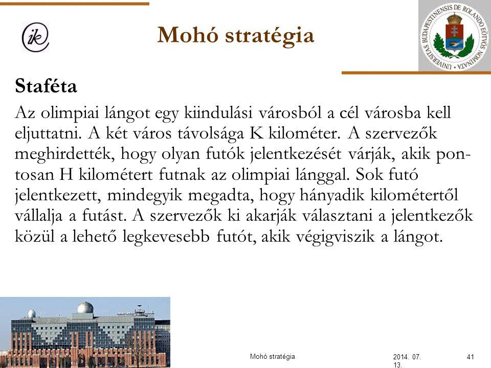 Mohó stratégia Staféta