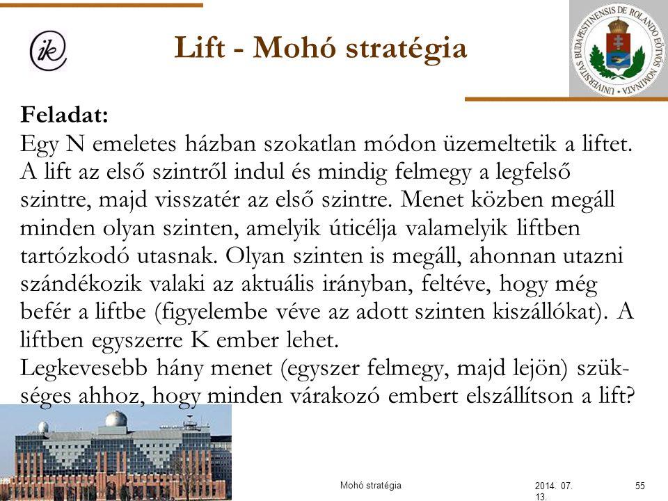 INFOÉRA 2006 2006.11.18. Lift - Mohó stratégia.
