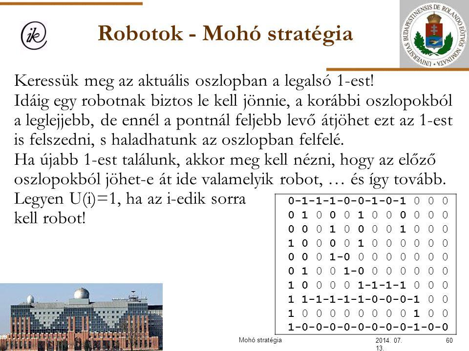 Robotok - Mohó stratégia